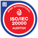ISO/IEC 20000 Auditor digital badge