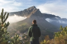 Guy overlooking Cape Town