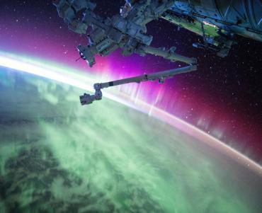 Satellite overlooking earth