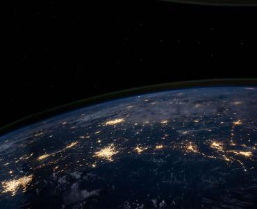 orbital view of earth at night
