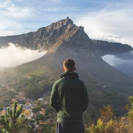 Guy overlooking Cape Town