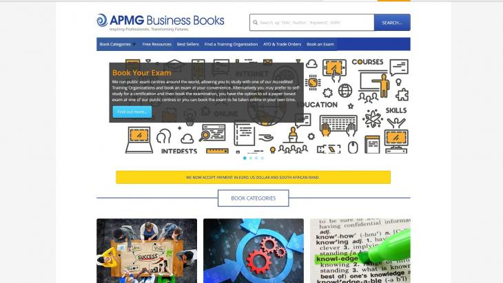 APMG Business Books site front page