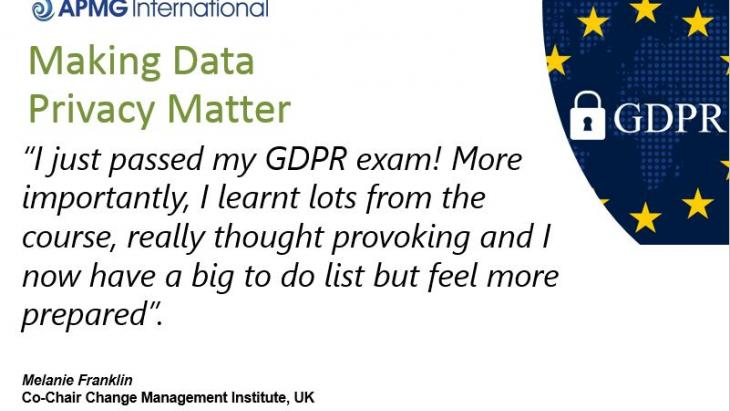 Melanie Franklin GDPR Quote