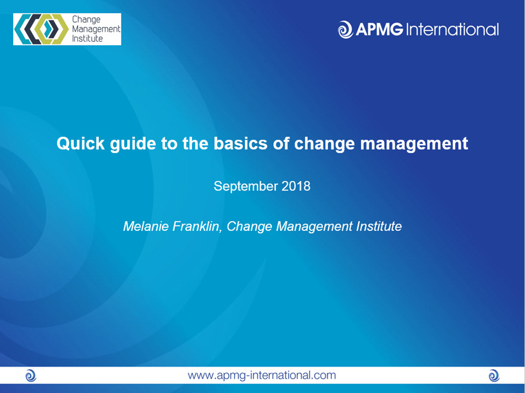 Quick guide to the basics of Change Management | APMG International
