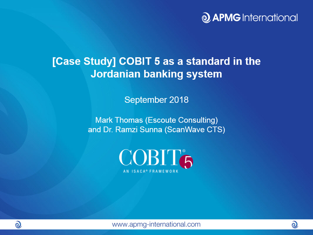 Case Study Cobit 5 As A Standard In The Jordanian Banking System